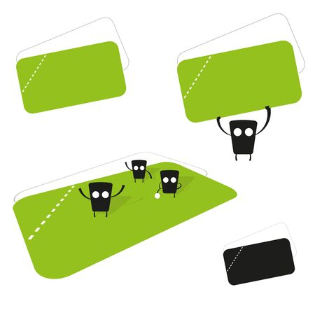 funny creature with ticket collection Vector