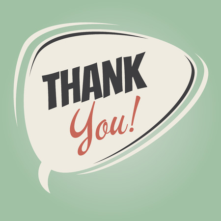 funny thank you speech bubble