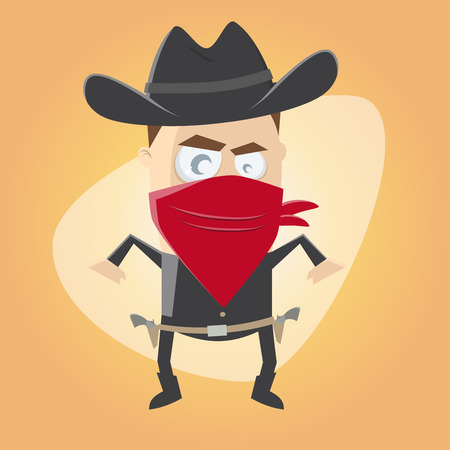 funny cartoon gunslinger