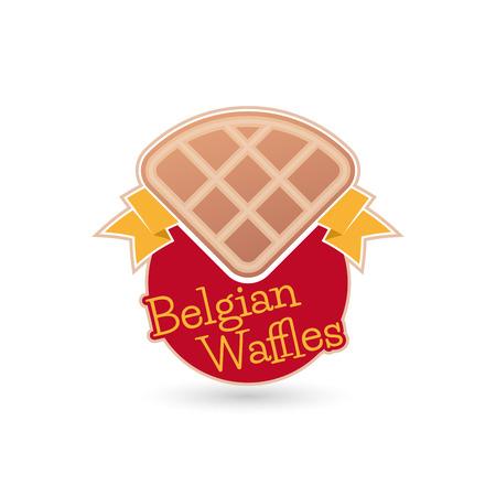 belgian: belgian waffles sign Illustration