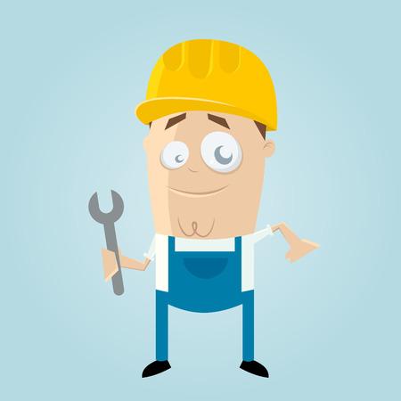 funny: funny cartoon construction worker