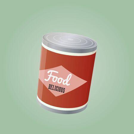 food can: food can illustration