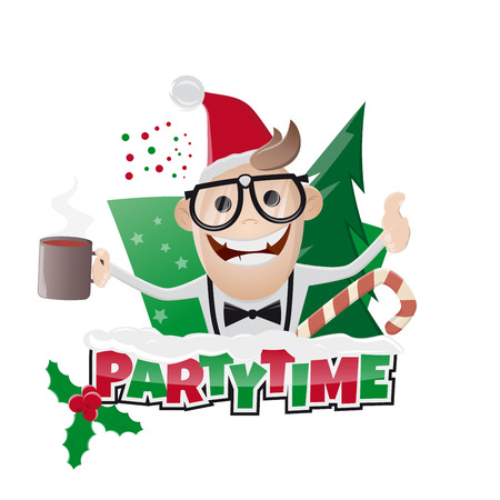 funny christmas: funny christmas party man