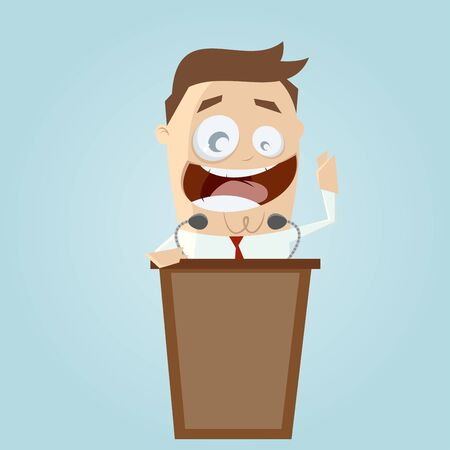 lectern: funny businessman and lectern