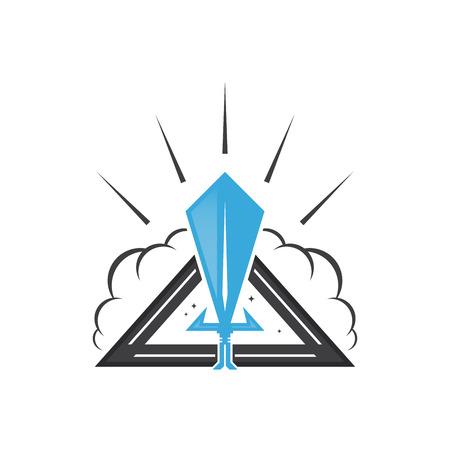 blade: sword or blade sign Illustration