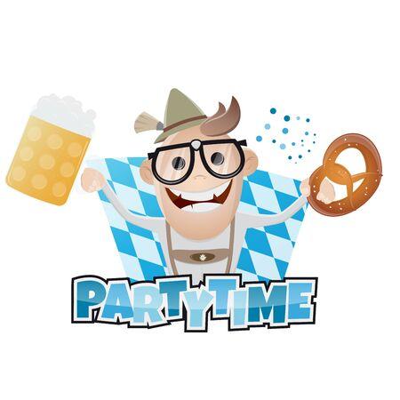 bavarian: funny bavarian party man