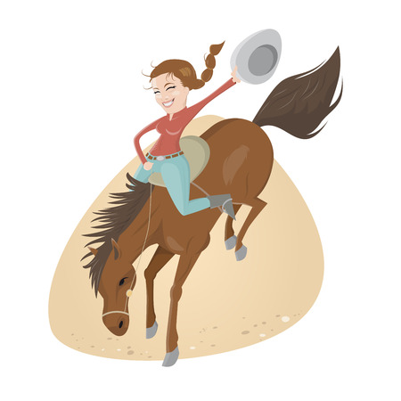 funny rodeo riding girl