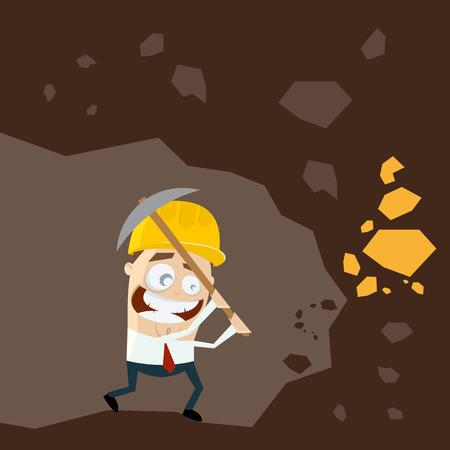 digger: funny cartoon gold digger