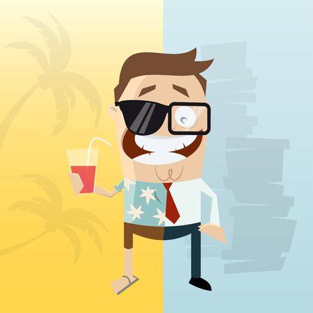 half: half job and half vacation man