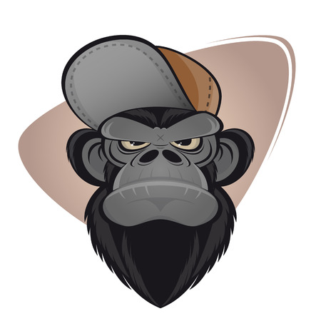 angry ape with cap