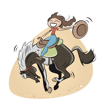 cowgirl and cowboy: funny rodeo cowgirl