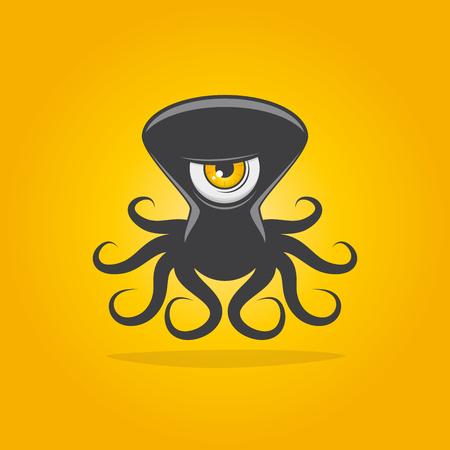 funny alien octopus