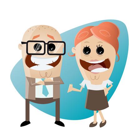 business team: happy business team Illustration