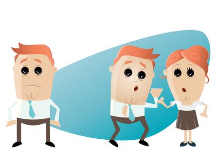 Biuro firmy sytuacja plotka Ilustracje wektorowe