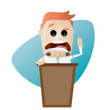 rousing: businessman or politician is giving a stirring speech