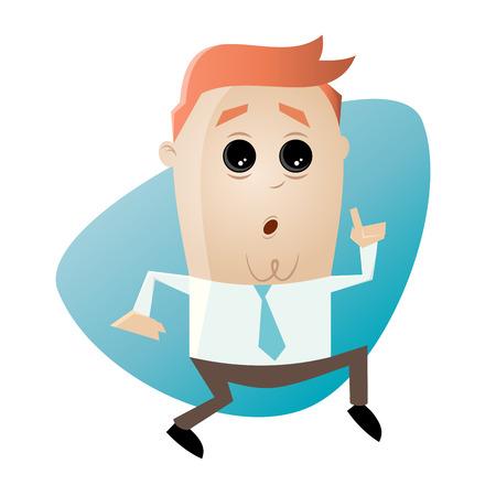 slink: cartoon man is sneaking