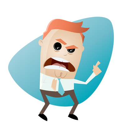angry businessman pointing with finger Illustration