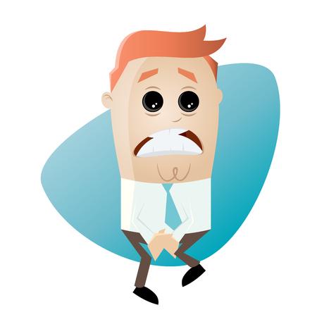 businessman has to pee very urgently