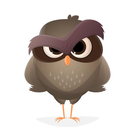 angry cartoon owl