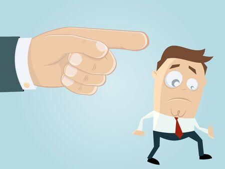 businessman is getting fired Vektorové ilustrace