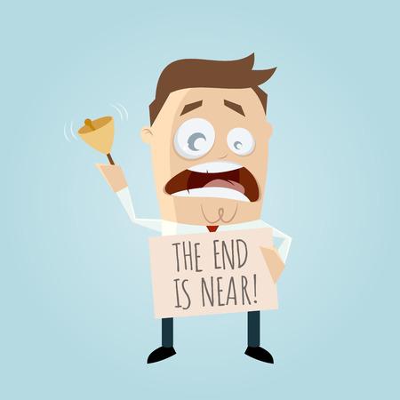 das Ende ist in der Nähe von Cartoon-Mann