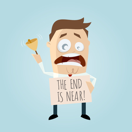 near: the end is near cartoon man