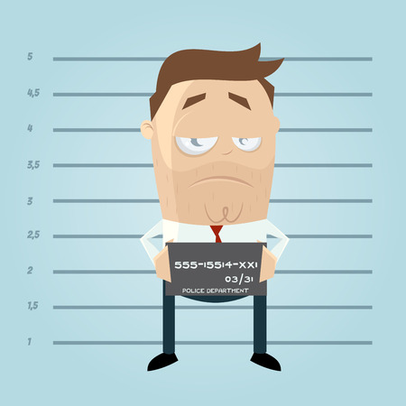 resignation: funny cartoon mugshot