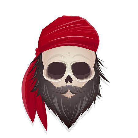 creepy: creepy pirate skull illustration