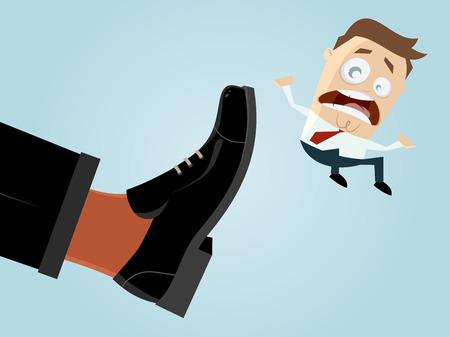 Geschäftsmann gefeuert Illustration