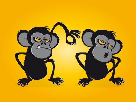 chimp: chimp delouses his friend