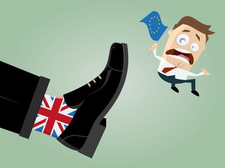 bandera de gran bretaña: brexit salida de Gran Bretaña de la UE