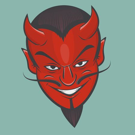 sinister: sinister satan face clipart