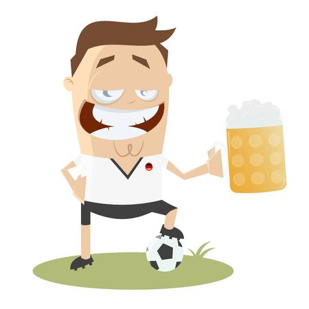 German soccer player with big glass of beer
