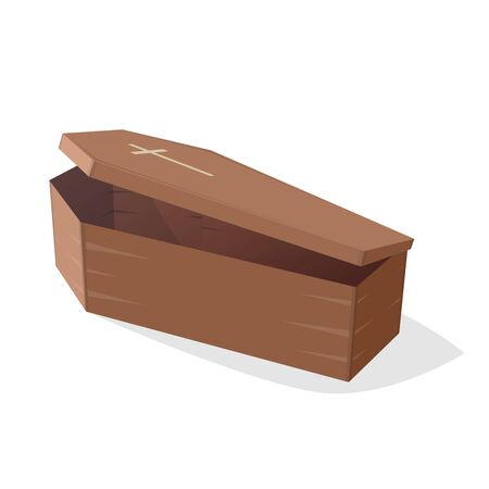 coffin: comic illustration of an open coffin