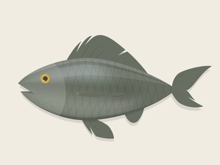cartoon illustration of a fish