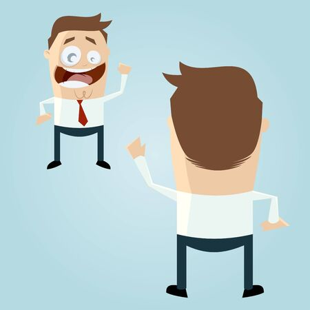 eachother: businessmen greeting eachother Illustration