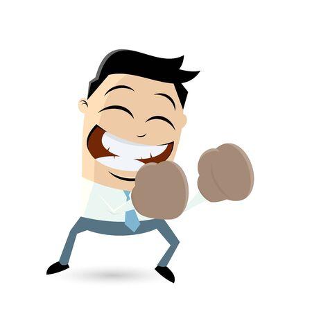 asian manager: funny cartoon boxer