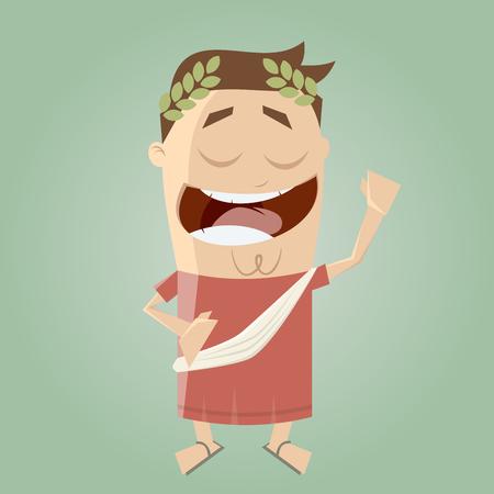 funny cartoon emperor Illustration
