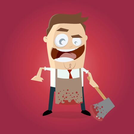 hatchet: psychopath with bloody hatchet and apron