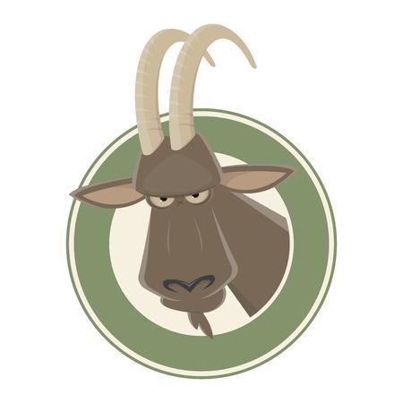 funny cartoon ibex
