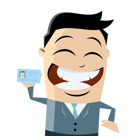 asian manager: funny businessman with passport