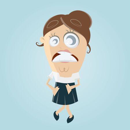 pee: woman needs to pee very urgent Illustration