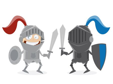 eachother: funny knights fighting against eachother