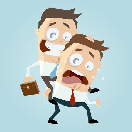 piggyback: businessman is giving a piggy back ride Illustration