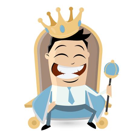 employee satisfaction: king on throne clipart