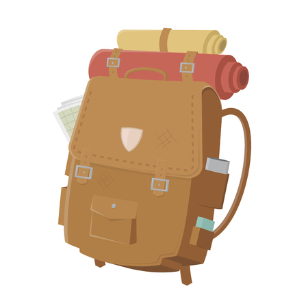 retro illustration of a backpack
