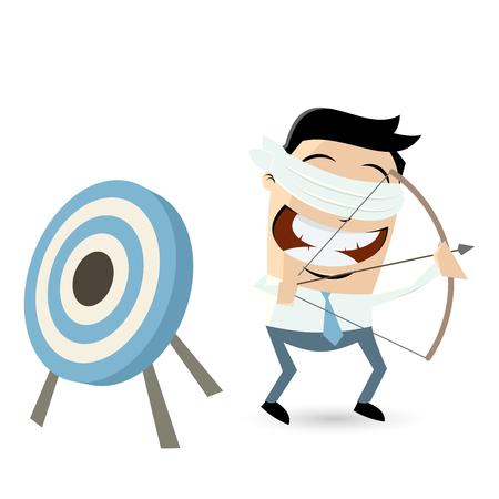 ojos vendados: con los ojos vendados hombre de negocios que apunta en la direcci�n equivocada