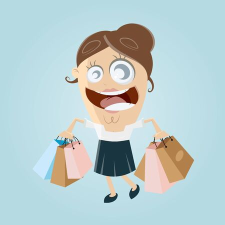 buying: happy woman with shopping bags