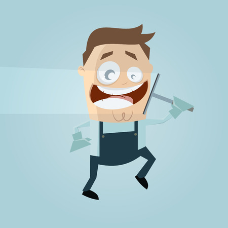 funny window cleaner clipart