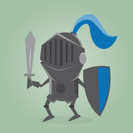 swordsman: blackknight comic illustration